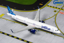 JetBlue A321neo N2002J (half-circles on tail) Gemini Diecast Display Model