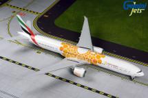 Emirates B777-300ER A6-EPO (orange Expo 2020 livery) Gemini 200 Diecast Display Model