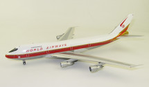 World Airways Boeing 747-200 N747WR With Stand, Limited 56 pieces