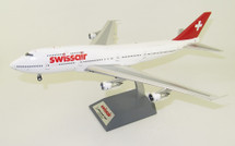 Swissair Boeing 747-300 HB-IGC With Stand