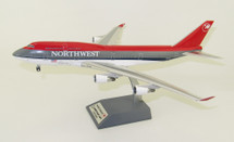Northwest Airlines Boeing 747-400 N671US City of Detroit With Stand