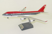 Northwest Airlines Boeing 747-400 N674US City of Shanghai With Stand