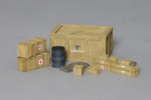 Crates and Barrels Accessories with German Decals applied, WWII