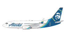 Alaska B737-700W N614AS New Livery Gemini Jets Diecast Display Model