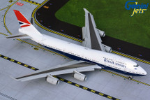 British Airways B747-400 G-CIVB (Negus livery, flaps-down version) Gemini 200 Diecast Display Model