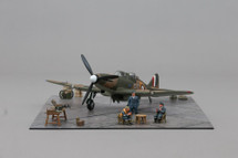 Boulton Paul Defiant WWII RAF, Ace Ted Thorn and his gunner Fred Barker Mahogany Display Model