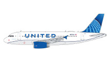 United A319 N876UA (new livery) Gemini Jets Display Model