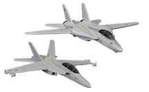 Maverick & Gooses F-14 Tomcat (Top Gun, 1986) and Roosters F/A-18 Hornet (Top Gun Maverick, 2020) Corgi Showcase