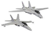 Maverick & Gooses F-14 Tomcat (Top Gun, 1986) and Roosters F/A-18 Hornet (Top Gun Maverick, 2020) Corgi Showcase