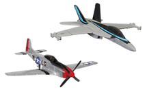 Maverick's F/A-18 Hornet and P-51D Mustang (Top Gun Maverick, 2020) Corgi Showcase