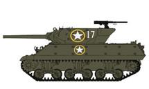 M10 Tank Destroyer 601st Tank Destroyer Bttn., Volturno River, 1943