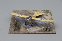 Etrich Taube Yellow, Pre-WWI Monoplane Mahogany Display Model