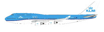 KLM Boeing 747-400 PH-BFT With stand and collectors coin