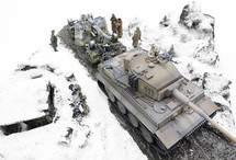 Leningrad, 1943 20cm x 20cm Pre-Assembled 1:72 Scale Polystone and Resin Dioramas (Vehicles & Figures not included)