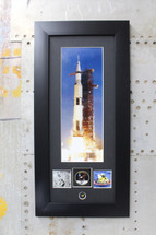 Apollo II Saturn V photos with Authentic kapton foil piece by Century Concept