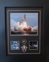 Atlantis STS-135 Signed by Chris Ferguson w/ Relic by Century Concept