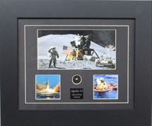 Apollo II print framed and matted to include CM Kapton Foil Piece by Century Concept