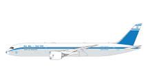 El Al Israel B787-9 B787-9 4X-EDF 1960s retro livery Gemini Jets Diecast Display Model