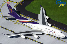 Thai Airways B747-400 HS-TGP FLAPS DOWN VERSION Gemini 200 Diecast Display Model