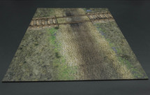 Railway Crossing and Cobblestone Terrain Mat from Thomas Gunn