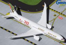 "Gulf Air B787-9 A9C-FG ""70th Anniversary"" Retro Livery Gemini Jets Diecast Display Model"