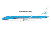 KLM B737-900 PH-BXP KLM 100 (flaps down) Gemini 200 Diecast Display Model