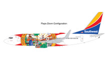 Southwest Airlines B737-700 N945WN Florida One (flaps down) Gemini 200 Diecast Display Model