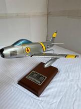 "F-86E SABREJET SIGNED BY PILOT FREDERICK C. ""BOOTS"" BLESSE"