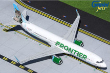 Frontier Airlines A321-200, N704FR Virgina the Wolf Gemini 200 Diecast Display Model