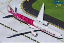 """Qatar Airways 777-300ER, A7-BEB """"FIFA World Cup 2022"""" Gemini 200 Diecast Display Model"""