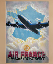 Air France Canvas Framed Stretched Canvas Authentic Models