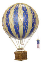 Hot Air Balloon Blue Authentic Models