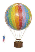 "Hot Air Balloon ""Travels Light"" Rainbow Authentic Models"