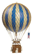 Hot Air Balloon Royal Aero Blue Authentic Models