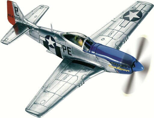 Atlas Editions 1:72 P-51D Mustang  Cripes A/' Mighty Ace George Preddy 7896-007