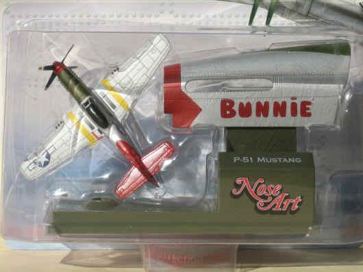 P 51 Mustang Tuskegee Airmen Red Tail Bunnie Corgi Nose Art Corgi