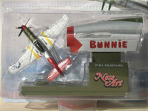 "P-51 Mustang Tuskegee Airmen ""Red Tail"" Bunnie Corgi (Nose Art) Corgi"