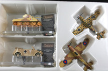 Collectors Set of Four Bf-109, Kubel Wagen, M4 & Hurricane Corgi