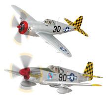 Set Lt. Warren Penny P-47D Thunderbolt & Capt. Robert Barkey P-51B Mustang