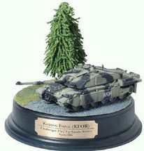 Challenger II Kosovo Force (KFOR) with Up-Grade Armor Diorama Set