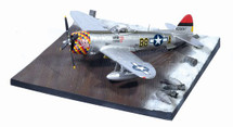 """P-47D Razorback USAAF """"Five by Five"""" with Airfield Base"""