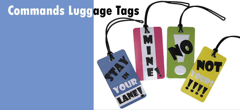 commands luggage tags