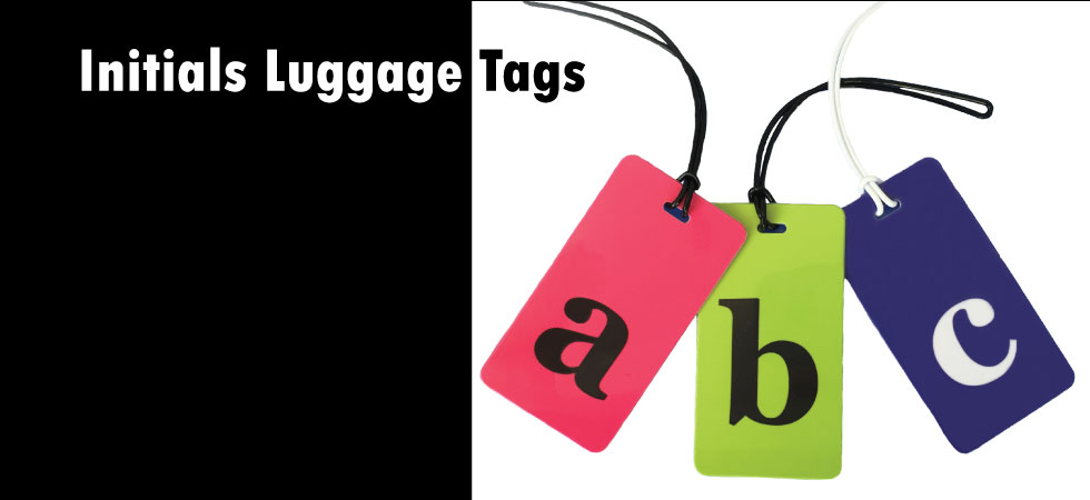 initials luggage tags