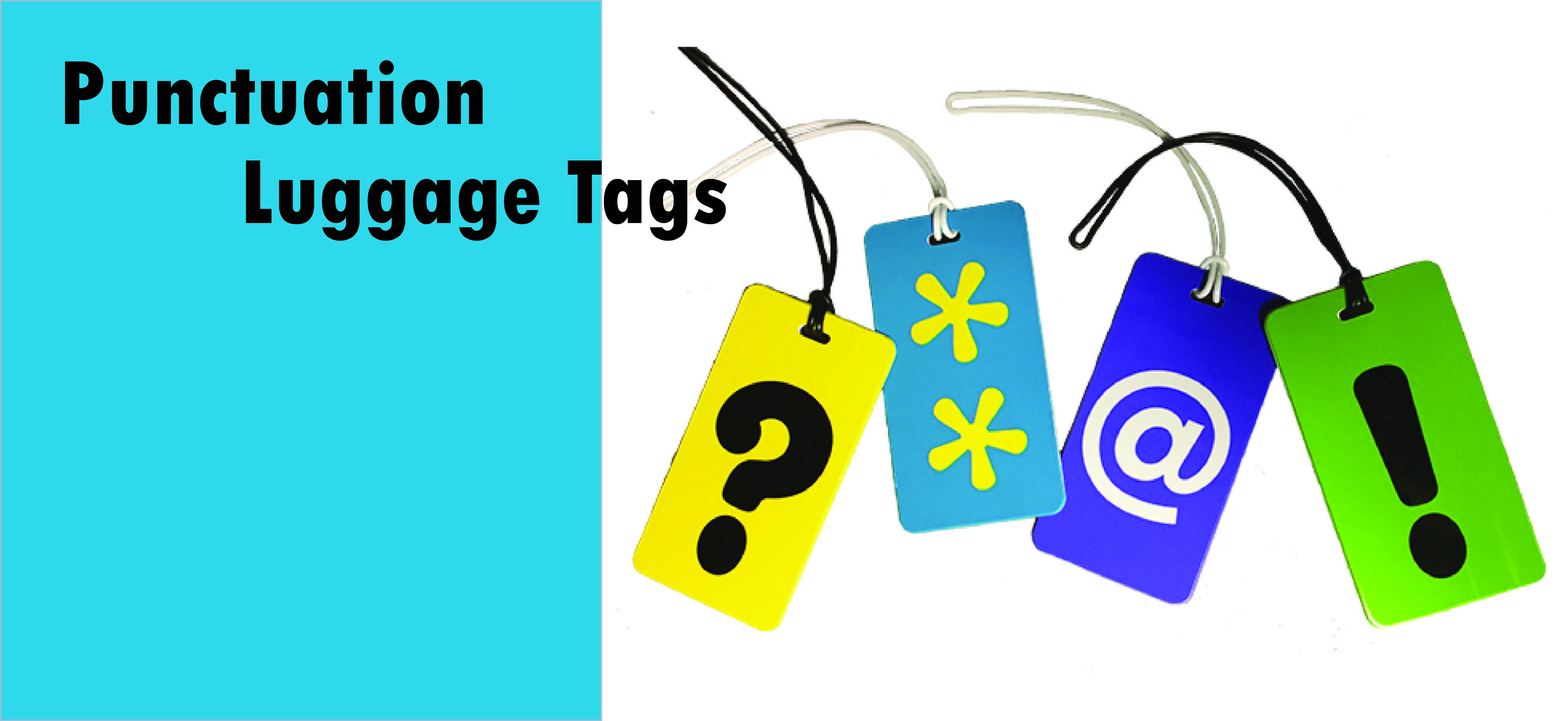 Punctuation luggage tags