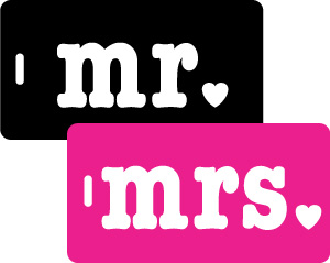 Mr & Mrs Luggage Tag Gift Set