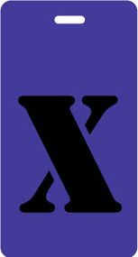 "Luggage Tag - Upper Case ""X"" - Purple/Black - Inventive Travelware"