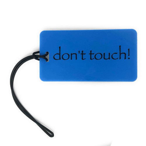 luggage tag - don't touch! - blue