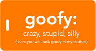 Goofy - Inventive Travelware luggage tag - Orange