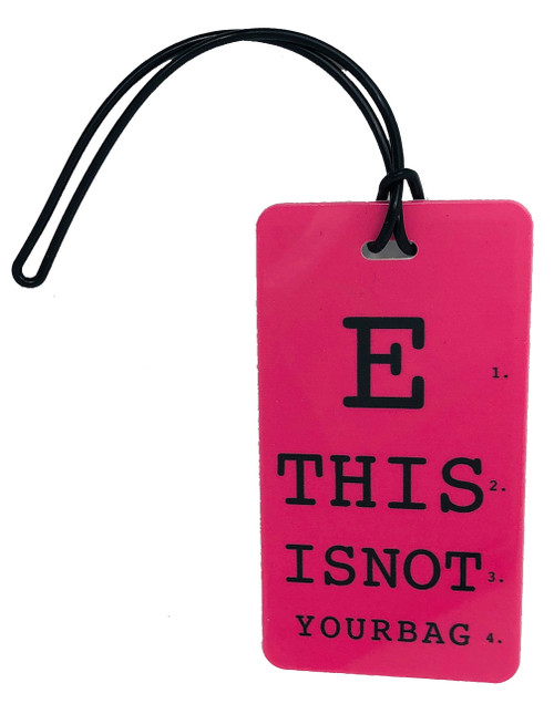 This is not your bag - luggage tag - fuchsia