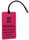 eye chart luggage tag - fuchsia